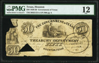 Houston, TX- Government of Texas $50 Apr. 1, 1838 Cr. H21/21A PMG Fine 12