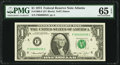 Low Serial Number 35 Fr. 1908-F $1 1974 Federal Reserve Note. PMG Gem Uncirculated 65 EPQ