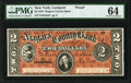 Obsoletes By State:New York, Lockport, NY- Niagara County Bank $2 July 1, 1856 G4a Proof PMG Choice Uncirculated 64.. ...