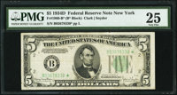 Fr. 1960-B* $5 1934D Federal Reserve Note. PMG Very Fine 25
