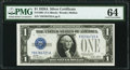 Fr. 1601 $1 1928A Silver Certificate. PMG Choice Uncirculated 64