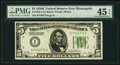 Fr. 1952-I $5 1928B Dark Green Seal Federal Reserve Note. PMG Choice Extremely Fine 45 EPQ