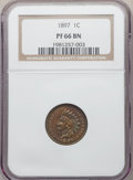 1897 1C PR66 Brown NGC. NGC Census: (14/1). PCGS Population: (29/6). CDN: $700 Whsle. Bid for NGC/PCGS PR66. Mintage 1,9...