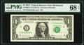 Near Solid Serial Number 55555558 Fr. 3004-E $1 2017 Federal Reserve Note. PMG Superb Gem Unc 68 EPQ