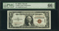 Fr. 2300 $1 1935A Hawaii Silver Certificate. PMG Gem Uncirculated 66 EPQ