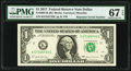 Small Size:Federal Reserve Notes, Repeater Serial Number 57335733 Fr. 3004-K $1 2017 Federal Reserve Note. PMG Superb Gem Unc 67 EPQ.. ...