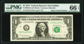 Small Size:Federal Reserve Notes, Radar Serial Number 57311375 Fr. 3004-K $1 2017 Federal Reserve Note. PMG Gem Uncirculated 66 EPQ.. ...