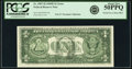 Partial Face to Back Offset Error Fr. 1907-H $1 1969D Federal Reserve Note. PCGS About New 50PPQ