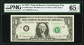 Fr. 1908-J* $1 1974 Federal Reserve Note with Back Plate Number 905. PMG Gem Uncirculated 65 EPQ