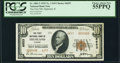 National Bank Notes:Illinois, Highland, IL - $10 1929 Ty. 2 The First National Bank Ch. # 6653 PCGS Choice About New 55PPQ.. ...