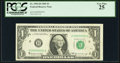 Near Solid Serial Number 00800000 Fr. 1903-H $1 1969 Federal Reserve Note. PCGS Very Fine 25