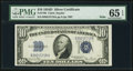 Small Size:Silver Certificates, Fr. 1705 $10 1934D Wide Silver Certificate. PMG Gem Uncirculated 65 EPQ.. ...