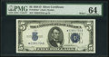 Small Size:Silver Certificates, Fr. 1654* $5 1934D Wide I Silver Certificate. PMG Choice Uncirculated 64.. ...