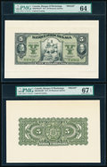 Canada Montreal, PQ- Banque d'Hochelaga $5 2.1.1917 Pick S811p Ch.# 360-24-02aFP; 360-24-02aBP Front and Back Proofs PMG...