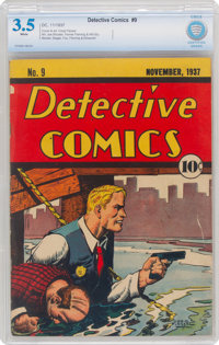 Detective Comics #9 (DC, 1937) CBCS GD/VG 3.5 White pages