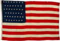 "Military & Patriotic:Spanish American War, 1st United States Volunteer Cavalry, ""Rough Riders"" Camp Flag. ..."