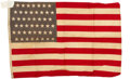 Military & Patriotic:WWI, WWI, 48-Star, Personal Flag, Pvt John Rodrigues, Co. B, 26th Infantry Rgt. 1st Infantry Division, AEF. ...