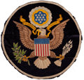 Military & Patriotic:WWII, Theodore Roosevelt White House Fabric U.S. Great Seal. ...