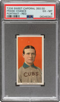 Baseball Cards:Singles (Pre-1930), 1909-11 T206 Sweet Caporal 350/30 Frank Chance (Portrait-Red) PSA EX-MT 6 - Pop One, None Higher for Brand/Series/Factory. ...