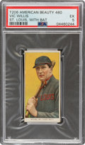 Baseball Cards:Singles (Pre-1930), 1909-11 T206 American Beauty 460 Vic Willis (With Bat) PSA EX 5 - Only Two Confirmed Series 460 Backs! ...