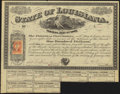 New Orleans, LA- State of Louisiana Parish of Concordia $100 Jan. 22, 1867 About Uncirculated
