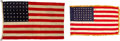 Military & Patriotic:WWII, Utah Beach Flags - U.S. 48-Star Camp & Parade Flags - G Co. 357th Infantry Regt., 90th Infantry Division. ... (Total: 2 Items)