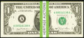 Complete District Set Fr. 1908-A-L $1 1974 Federal Reserve Notes. Twelve Examples. Choice Crisp Uncirculated; Complete D...