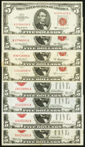 Eight Different Small Size $5 Legal Tender Series. Very Fine or Better. ... (Total: 8 notes)