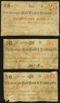 Obsoletes By State:Georgia, Augusta, GA- Georgia Rail Road & Banking Co. 25¢; 50¢; 50¢ 1862-63 Good or Better.. ... (Total: 3 notes)