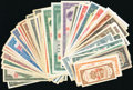 Collection of 51 Examples From China and Taiwan Very Fine-Choice Uncirculated. ... (Total: 51 notes)