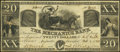 Obsoletes By State:Georgia, Augusta, GA- Mechanics Bank $20 Oct. 1, 1861 Very Fine.. ...