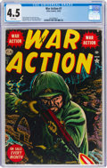 Golden Age (1938-1955):War, War Action #7 (Atlas, 1952) CGC VG+ 4.5 White pages....