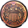 Proof Two Cent Pieces, 1869 2C PR67 Red and Brown NGC....