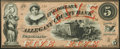 Obsoletes By State:Maryland, Cumberland, MD- Allegany County Bank $5 Jan. 4, 1860 Crisp Uncirculated.. ...