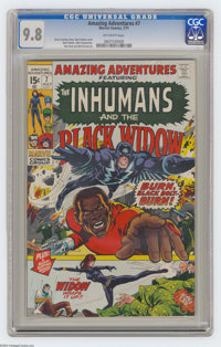 Amazing Adventures #7 (Marvel, 1971) CGC NM/MT 9.8 Off-white pages. The Inhumans and the Black Widow appear. Neal Adams...