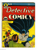 Golden Age (1938-1955):Superhero, Detective Comics #46 (DC, 1940) Condition: GD+. Death of Hugo Strange. Bob Kane cover and art. Fred Ray and Chad Grothkopf a...