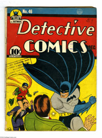 Detective Comics #46 (DC, 1940) Condition: GD+. Death of Hugo Strange. Bob Kane cover and art. Fred Ray and Chad Grothko...