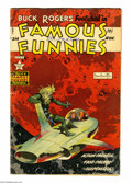Golden Age (1938-1955):Science Fiction, Famous Funnies #214 (Eastern Color, 1954) Condition: GD/VG. FrankFrazetta cover. Overstreet 2004 GD 2.0 value = $122; VG 4....