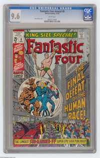 Fantastic Four Annual #8 (Marvel, 1970) CGC NM+ 9.6 White pages. The Sub-Mariner appears. John Romita Sr. cover art. Onl...