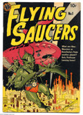 Golden Age (1938-1955):Science Fiction, Flying Saucers #1 (Avon, 1950) Condition: Apparent VG. GeneFawcette cover. Wally Wood art. Color touch on front cover. Over...