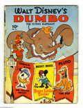 Golden Age (1938-1955):Cartoon Character, Four Color (Series One) #17 Walt Disney's Dumbo the Flying Elephant(Dell, 1941) Condition: GD/VG. Dumbo #1. Also featuring ...