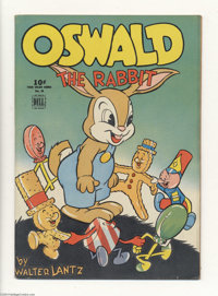 Four Color #39 Oswald the Rabbit (Dell, 1944) Condition: VG+. Walter Lantz cover with gingerbread and lollipop men froli...