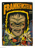Golden Age (1938-1955):Horror, Frankenstein Comics #18 (Prize, 1949) Condition: VG-. New origin,horror series begins. Dick Briefer stories and art. Brown ...