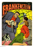 Golden Age (1938-1955):Horror, Frankenstein Comics #25 (Prize, 1953) Condition: VG. Dick Brieferstories and art. Overstreet 2004 VG 4.0 value = $50....