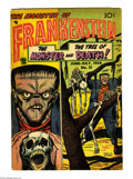 Golden Age (1938-1955):Horror, Frankenstein Comics #31 (Prize, 1954) Condition: VG. Dick Brieferstories and art. Overstreet 2004 VG 4.0 value = $50....