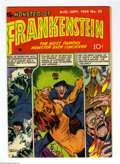 Golden Age (1938-1955):Horror, Frankenstein Comics #32 (Prize, 1954) Condition: FN+. Dick Brieferstories and art. Overstreet 2004 FN 6.0 value = $75; VF 8...