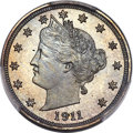 Proof Liberty Nickels, 1911 5C PR67+ Cameo PCGS. CAC....