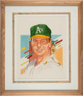 Baseball Collectibles:Others, 1988 Mark McGwire Dick Perez Original Painting Used for Di...