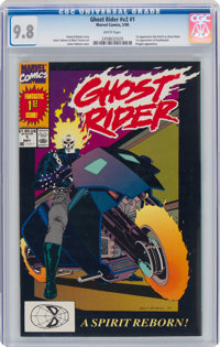 Ghost Rider V2#1 (Marvel, 1990) CGC NM/MT 9.8 White pages