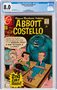 Abbott and Costello (Charlton) #2 (Charlton, 1968) CGC VF 8.0 Off-white to white pages